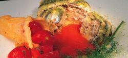 Tortiera di alici con origano e Provolone Valpadana