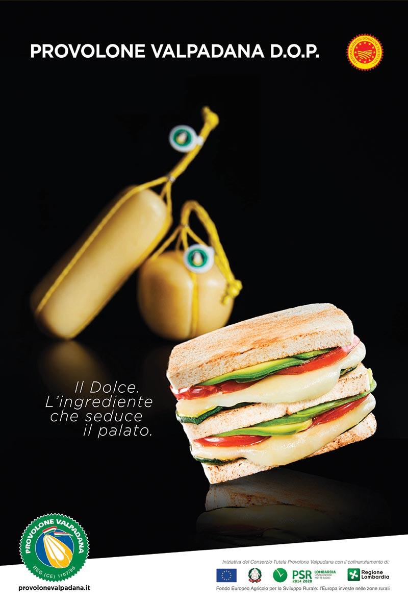 Campagne pubblicitarie 2020 Provolone Valpadana dolce