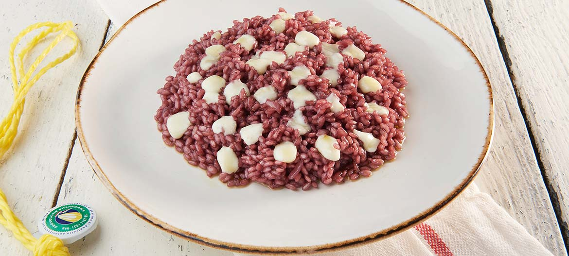 Risotto with mild Provolone Valpadana P.D.O. and Amarone