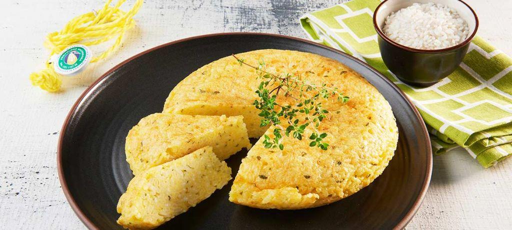 Frittata di riso e Provolone Valpadana D.O.P. dolce
