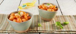 Gnocchi con pomodoro, Provolone Valpadana D.O.P. dolce e basilico