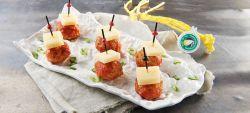 Polpettine con pomodoro e Provolone Valpadana D.O.P. piccante
