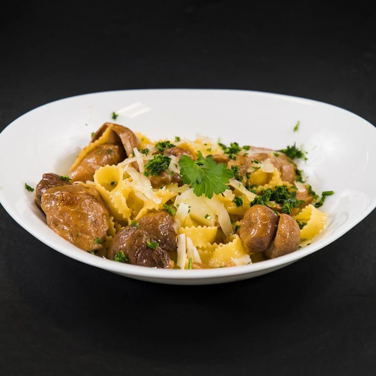 Fettuccine porcini e Provolone Valpadana DOP piccante