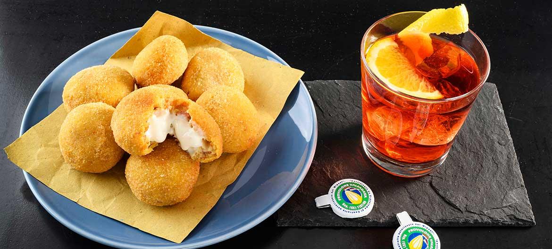 Meatballs made of bread, capocollo and mild Provolone Valpadana PDO