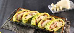Frittata roll with Speck courgettes and mild Provolone Valpadana