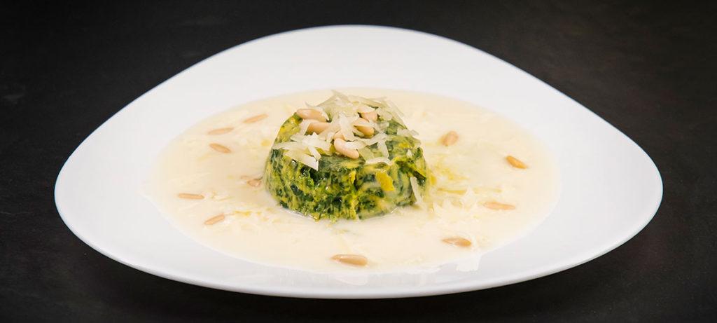 ricette con verdure e formaggio Flan di spinaci e Provolone Valpadana