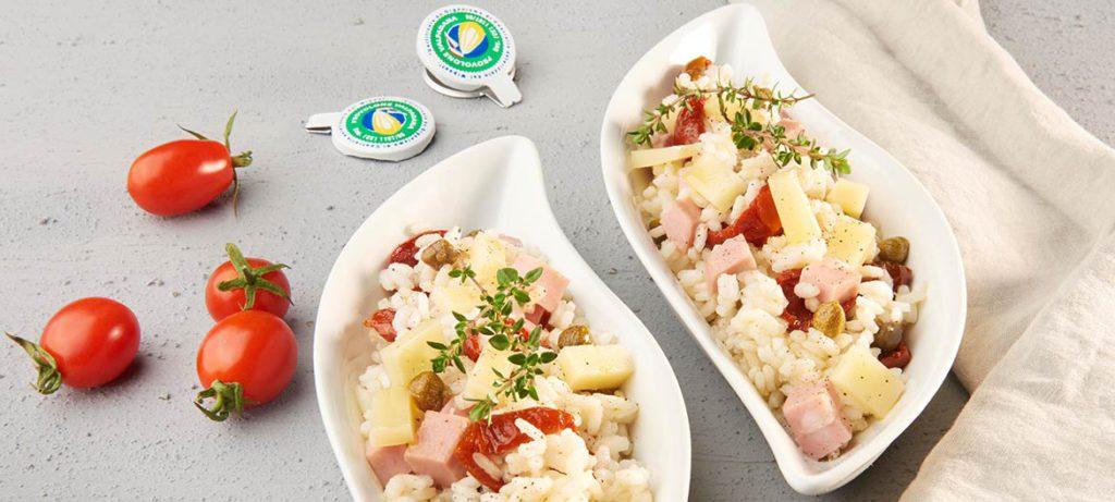 ricette di primavera Insalata di riso con Provolone Valpadana