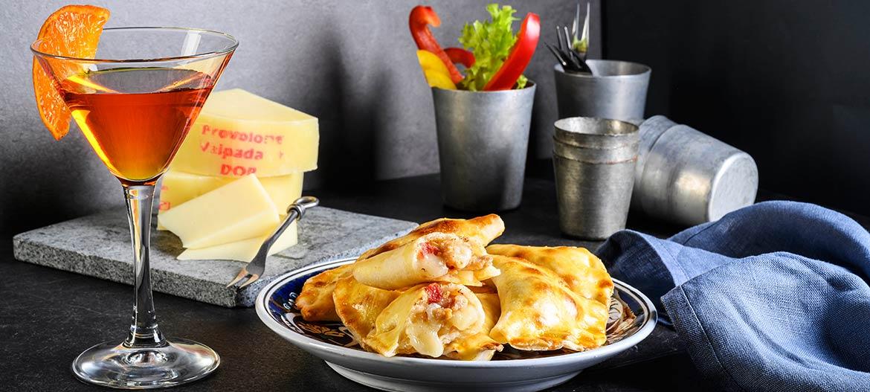 Empanadas de pollo con Provolone Valpadana