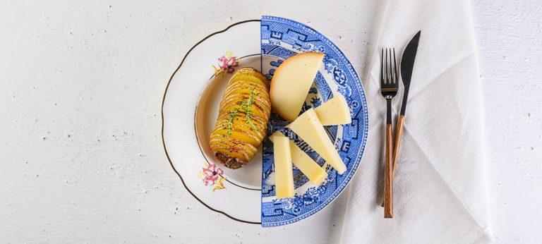 Patatas Hasselback con aromas
